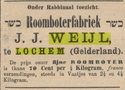 Advertentie roomboterfabrikant